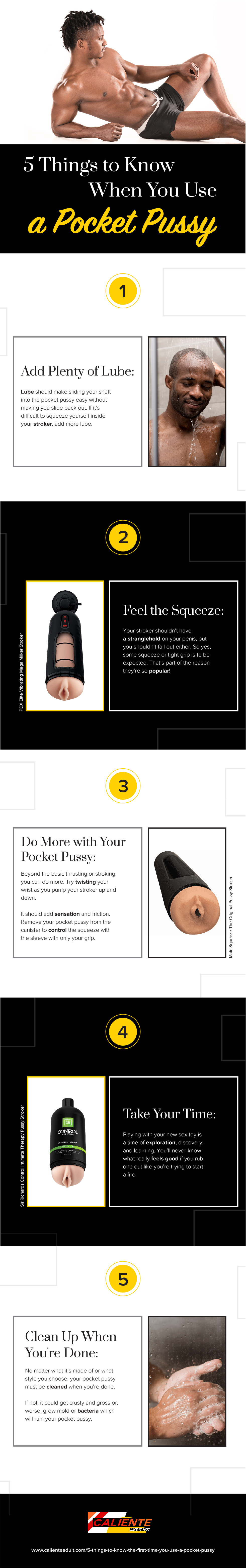 Infographic for 5 Things to Know the First Time You Use a Pocket Pussy